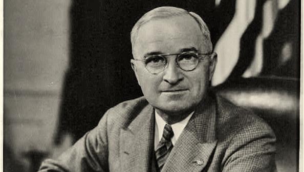 Harry Truman BW Photo Portrait