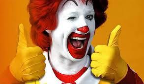 Ronald McD winks thumbs up