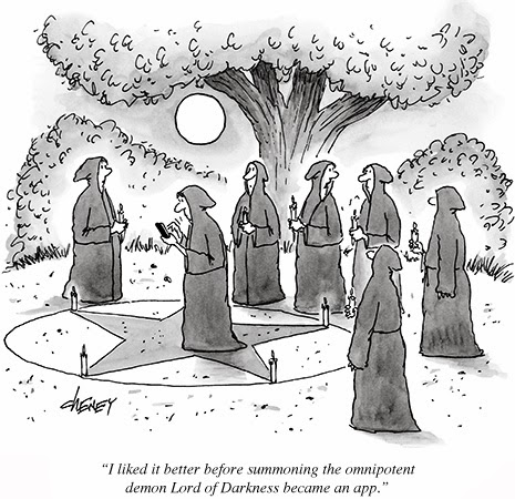 Satanic app NY cartoon