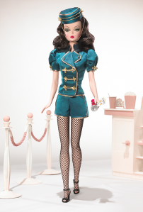 Barbie type Doll as Movie Usherette