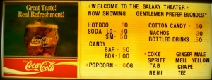 Concession Stand Sign with Prices - 60s