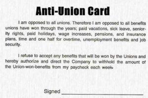 Labor Day anti-union-card