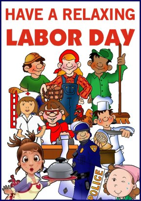 LABOR DAY BANNER various occupations