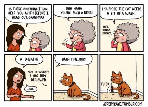 Bathe the Cat Cartoon