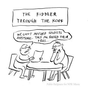 Fiddler Pun Cartoon