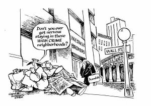 High Crime Neighborhood for Homeless Cartoon