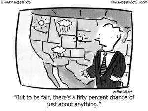 Indecisive Weather Cartoon