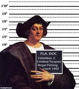 Christopher Columbus Mugshot