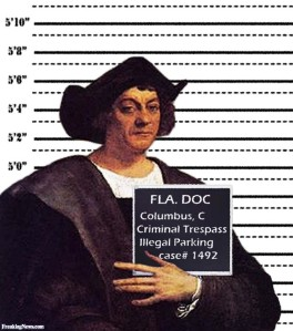 Christopher Columbus Mugshot