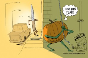Halloween Pumpkin Carving Cartoon