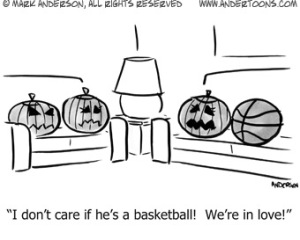 Pumpkin Loves Basketball