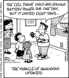 Cell Phone chanukah-cartoon