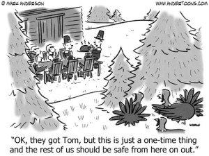 One Time Thing Thanksgiving Cartoon