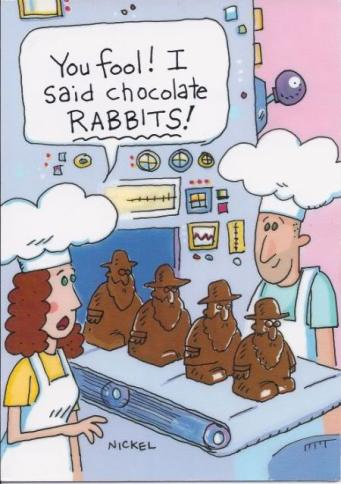 Passover Easter Chocolate Rabbis