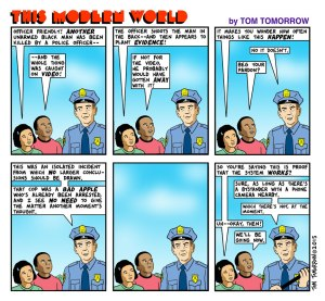 Tom Tomorrow Officer Friendly 021115