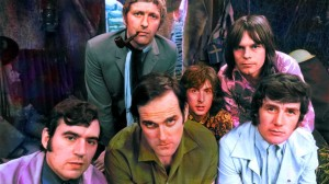 Monty Python's Flying Circus (L to R): Terry Jones, Graham Chapman, John Cleese, Eric Idle, Terry Gilliam and Michael Palin