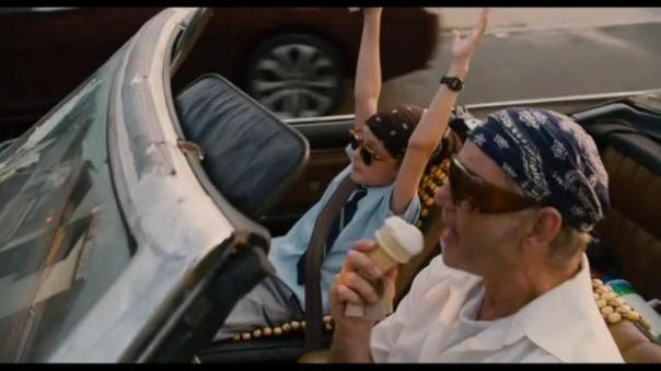 Oliver and Vincent in Car with Shades and Bandanas