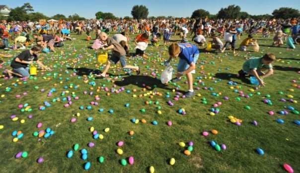 easter egg drop kids rampant