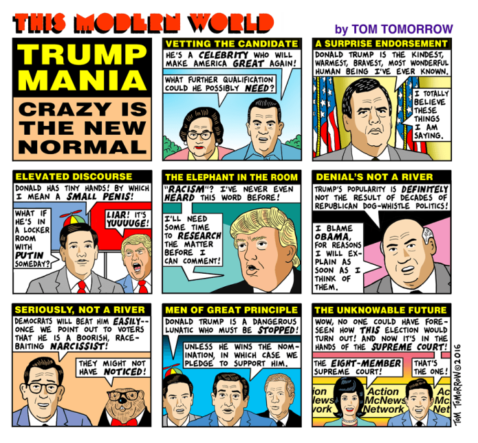 Tom Tomorrow - Trump Mania