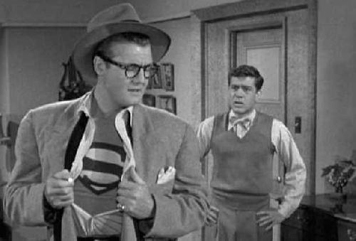 George Reeves and Jack Larson