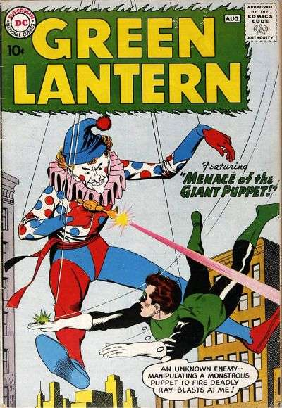 green lantern 1960 comic book cover