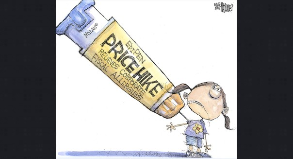 Epi-pen political cartoon