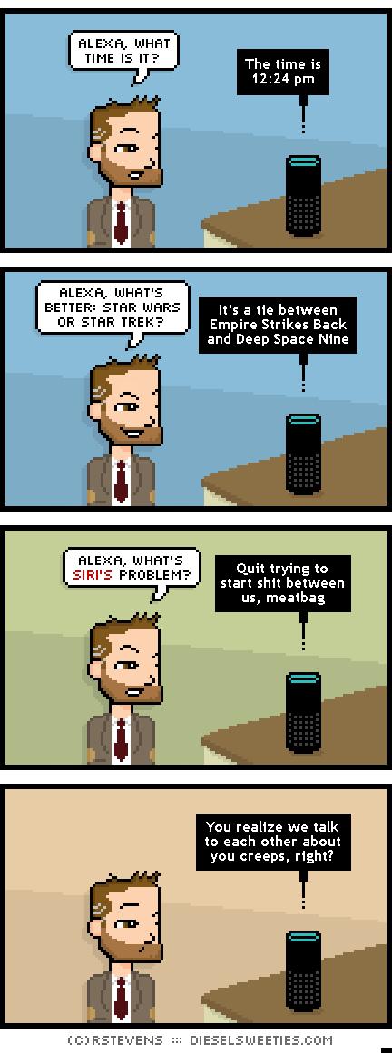 R Stevens Diesel Sweeties Alexa vs Siri